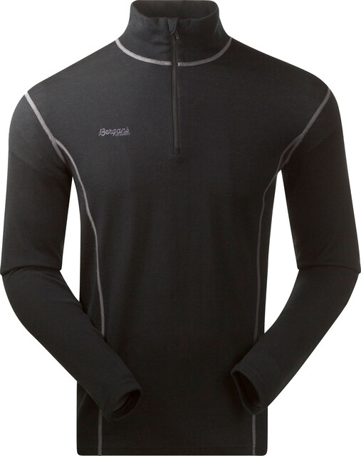 Bergans Akeleie Half Zip Top Men, black
